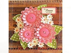 怎么做中秋节祝福花朵贺卡的制作方法