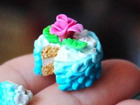 怎么做逼真超轻粘土玫瑰蛋糕的制作方法步骤
