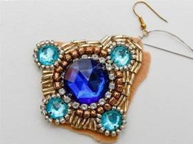 怎么做串珠宝石耳环的制作方法教程