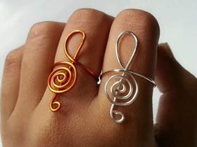怎么用金属丝做高音符号戒指的制作方法图解