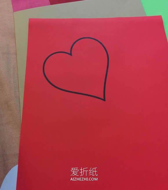 我的黑色情人节_怎么做创意情人节爱心贺卡的制作方法图解_爱折纸网