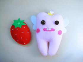 怎么做布艺牙宝宝公仔的制作方法图解