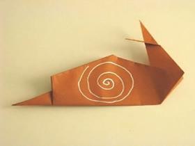 怎么简单折纸蜗牛的折法步骤图解