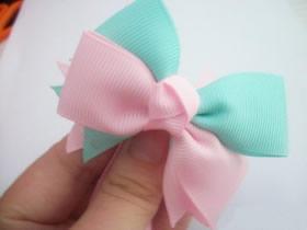 怎么做双色公主风蝴蝶结发饰的制作方法