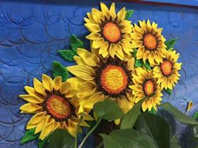 怎么做超轻粘土向日葵画的制作步骤图解