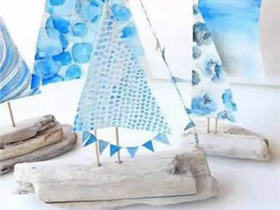 怎么用废木头做小帆船的手工制作方法