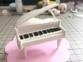 怎么做超轻粘土钢琴的手工制作方法步骤图