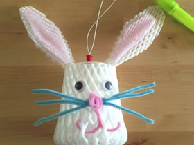 怎么废物利用做中秋节兔子灯笼的制作方法