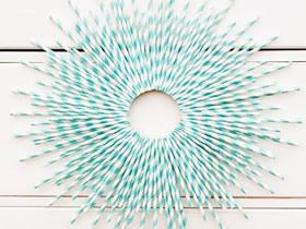 怎么做婚礼装饰吸管花环的制作方法图解