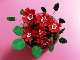 怎么做红白两色超轻粘土花的制作方法步骤
