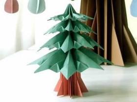 手工折纸华丽圣诞树怎么折的过程步骤