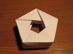 怎么折纸五角大楼形状多边形的折法步骤图解
