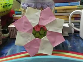 最简单圣诞花环怎么折的图解教程