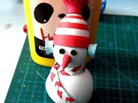 怎么做冬天衍纸雪人的手工制作方法图解