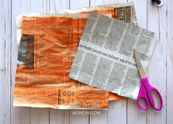 怎么用废旧报纸做狐狸贴画的手工制作教程- www.aizhezhi.com