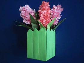 怎么折纸栅栏花盒的折法详细图解步骤