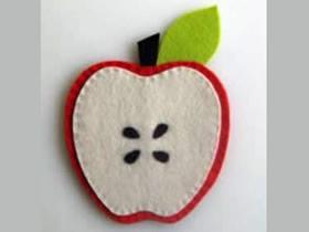 怎么做不织布苹果杯垫的制作方法教程