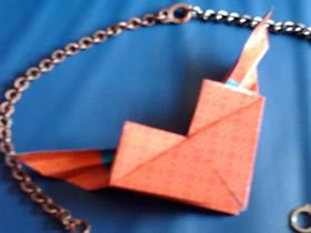 怎么折纸带翅膀心的折叠方法步骤图