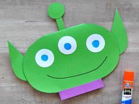 怎么做有趣的父亲节外星人贺卡的制作方法