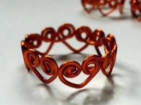 怎么做情人节礼物心链戒指的制作方法图解