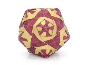 立体纸花球怎么折叠的方法图解过程