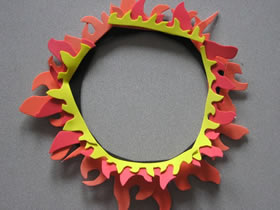 怎么用泡沫纸做马戏团火圈装饰的制作方法