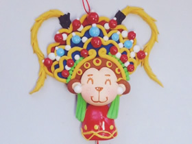 怎么做粘土猴年挂饰的方法 戏曲风齐天大圣!
