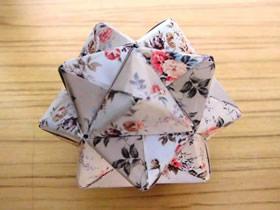 怎么折纸最基础组合花球的折法步骤图解
