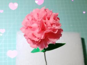怎么做母亲节粘土康乃馨花的制作方法步骤