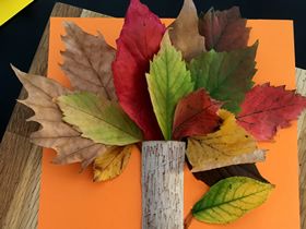 怎么废物利用做秋天大树贴画的制作方法图解