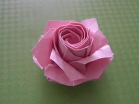 怎么折纸福山玫瑰花的折法详细过程图解