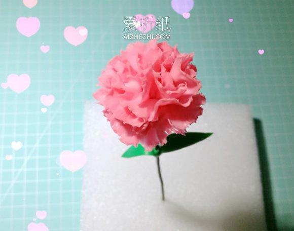 怎么做母亲节粘土康乃馨花的制作方法步骤- www.aizhezhi.com