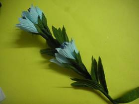 怎么做皱纹纸龙胆花的手工制作方法图解