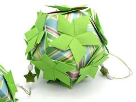 怎么折纸球体和立方体花球的折法过程图解