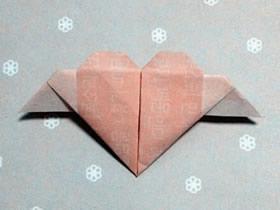 带翅膀的心形的折法图解步骤