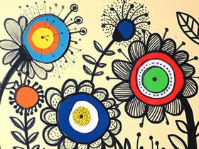 怎么手工做花朵贴画的制作方法简单又好看