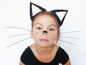 怎么做布艺儿童猫耳朵头箍发饰的制作方法