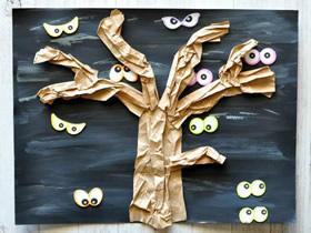 幼儿园怎么简单做万圣节树的制作方法