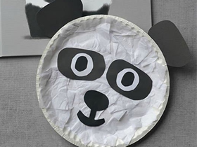 怎么用生日蛋糕纸盘做大熊猫的手工制作方法