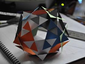 怎么手工做纸十二面体的制作方法图解教程