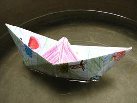 怎么折纸简单又漂亮小纸船的折法步骤图