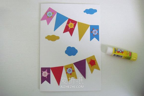 小学生做的新年贺卡_怎么做国庆节旗帜贺卡的手工制作方法_爱折纸网