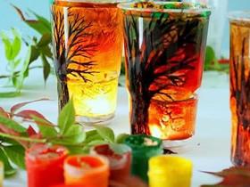 怎么用塑料杯做新年大树灯笼/烛台的制作方法