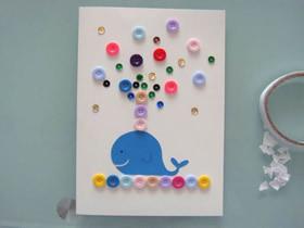 怎么做父亲节鲸鱼贺卡的制作方法简单可爱