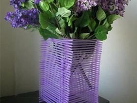 怎么做创意吸管花瓶的手工制作方法教程