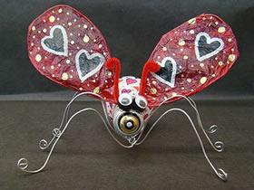 怎么用灯泡做昆虫飞蛾装饰品的制作方法教程