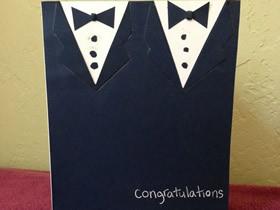 怎么做同性婚礼邀请卡的手工制作方法图解