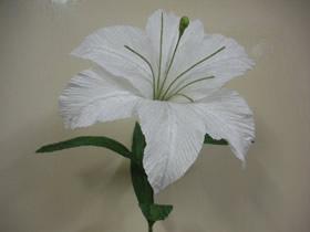 怎么做情人节/母亲节皱纹纸百合花的制作方法