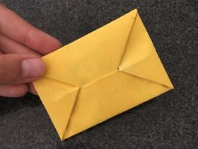 怎么把情书信纸折成信封的折法步骤图解