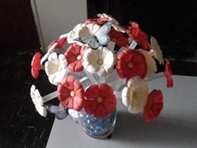 怎么用矿泉水瓶做塑料仿真花的制作方法图解